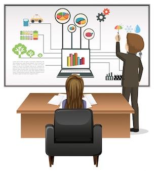Pessoas negócio, trabalhando, em, escritório