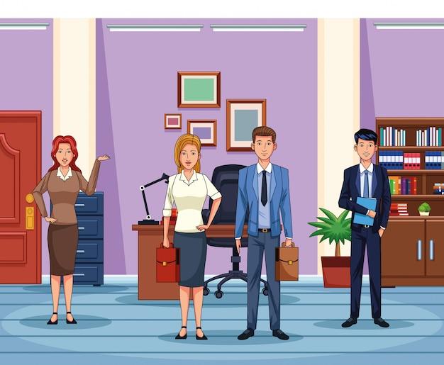 Pessoas negócio, trabalhando, escritório