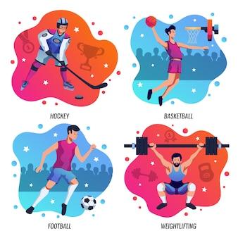 Pessoas no conceito de design sport 2x2