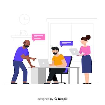 Pessoas no escritório