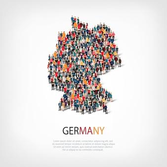 Pessoas no mapa do país alemanha