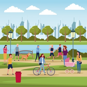 Pessoas no parque