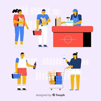 Pessoas no supermercado