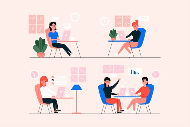 Pessoas oficiais de negócios conversando com colegas de trabalho
