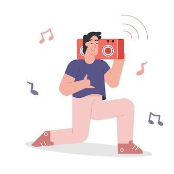 Pessoas ouvindo música