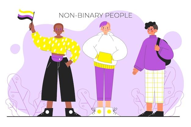Pessoas planas orgânicas não binárias