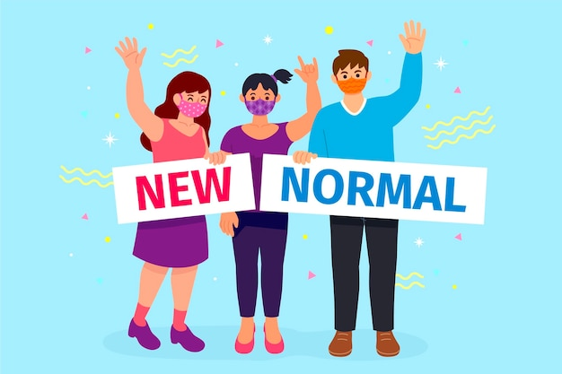 Pessoas positivas diante do novo normal