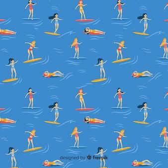 Pessoas, praia, padrão