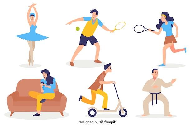 Pessoas praticando esportes