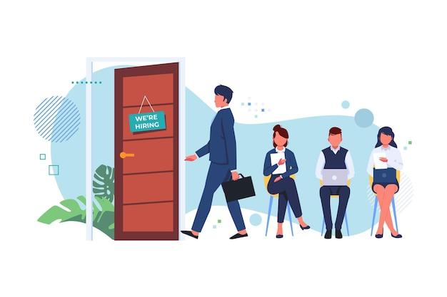 Pessoas prontas para arriscar em uma entrevista de emprego