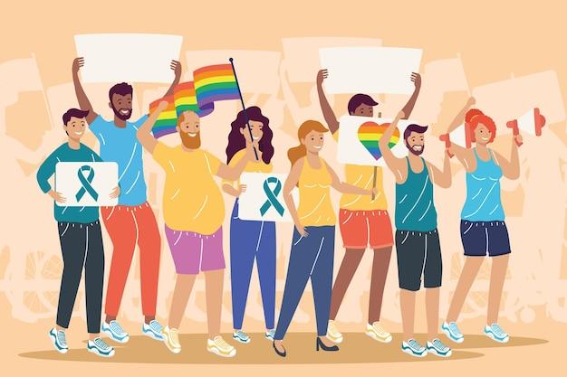 Pessoas que apoiam os direitos da comunidade lgbt