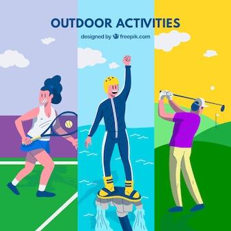 Pessoas que apreciam atividades de lazer ao ar livre