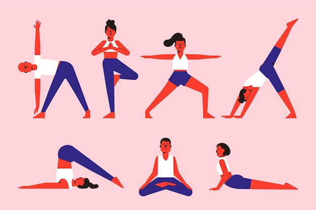 Pessoas que fazem o conceito de ioga