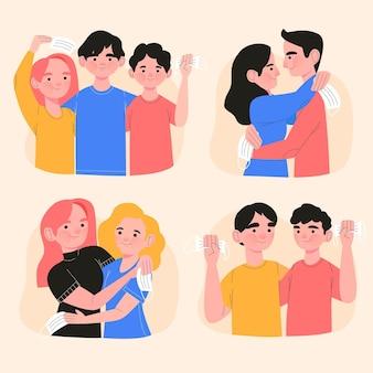 Pessoas que se encontram após o auto-isolamento