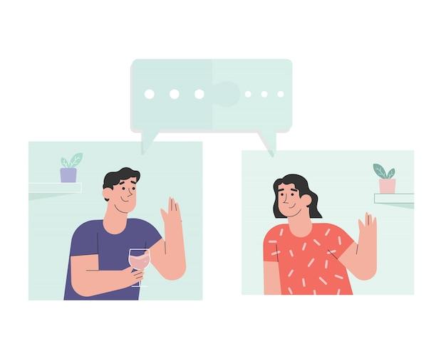 Pessoas que usam comunicação online