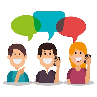 Pessoas se comunicando conceito ícone vector ilustração design
