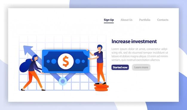 Pessoas segurando dinheiro para aumentar o investimento