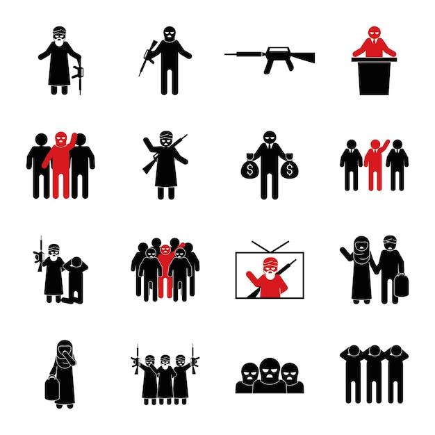 Pessoas terroristas extremistas