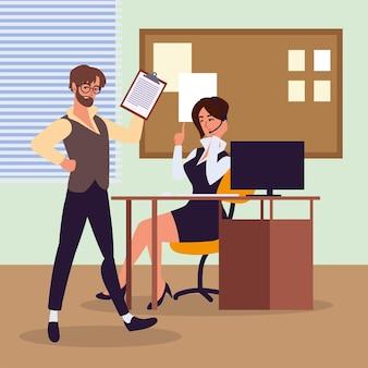 Pessoas trabalham assistente pessoal