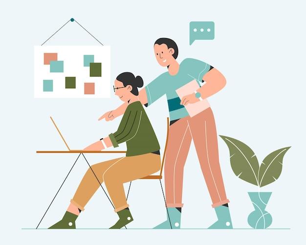 Pessoas trabalhando juntas
