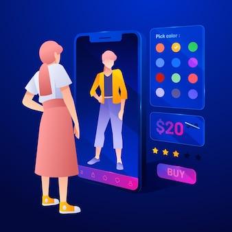 Pessoas usando realidade aumentada em smartphones