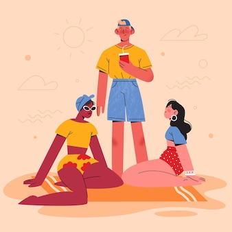 Pessoas vestindo roupas de verão