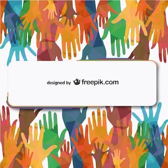 Pessoas vetor mãos alcançando ilustração livre