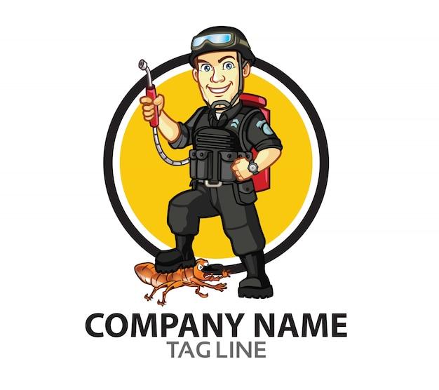 Pest control squad logo mascot