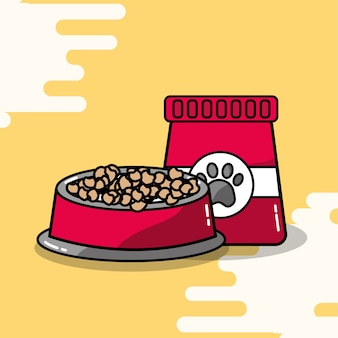 Pet bowl e embalagem de alimentos