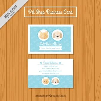 Pet cartão de visita loja
