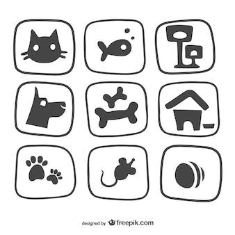 Pet ícones embalar