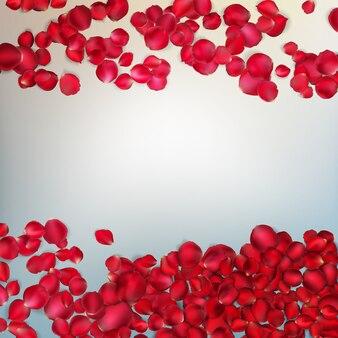 Pétalas de rosa vermelhas.
