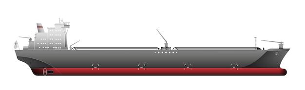 Petroleiros, navios de transporte de gás, isolados no branco, ilustração vetorial