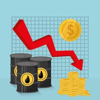 Petróleo e design de preços do petróleo.