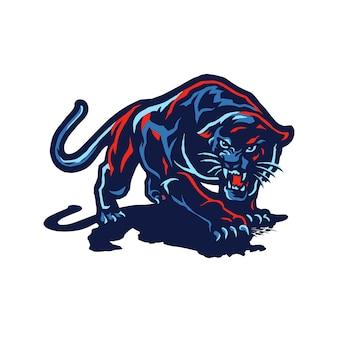 Phanter mascot logo ilustração