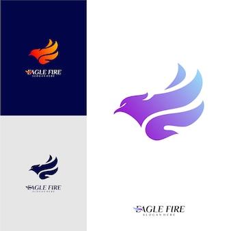 Phoenix fire bird logo design concepts