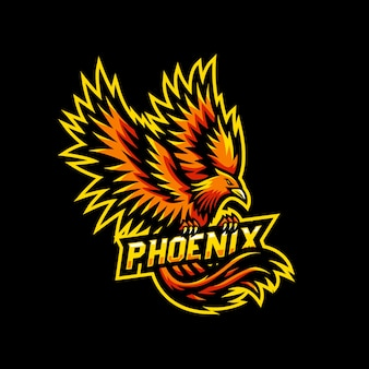 Phoenix mascote logotipo esport gaming