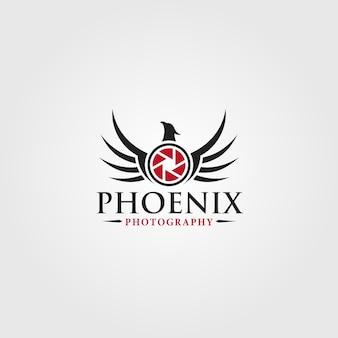 Phoenix - modelo de logotipo de estúdio de fotografia