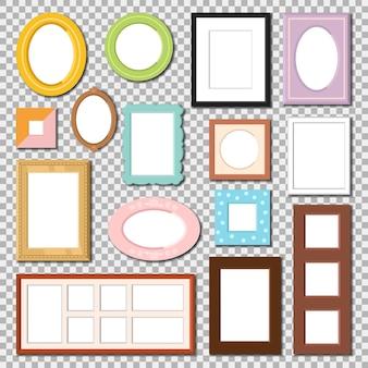 Photo frame isolated set
