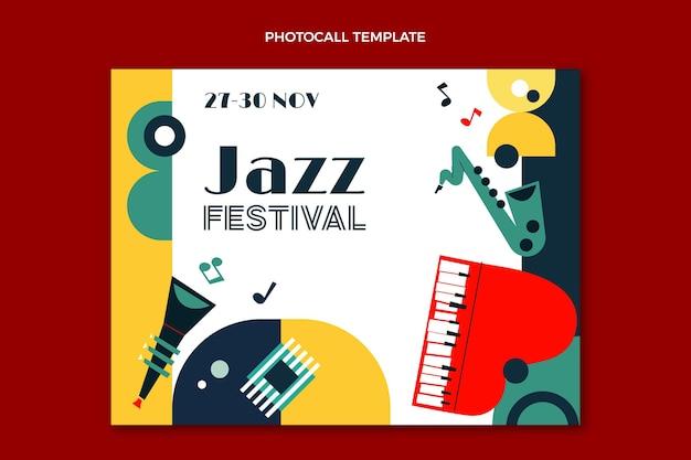 Photocall de festival de música minimalista em estilo simples