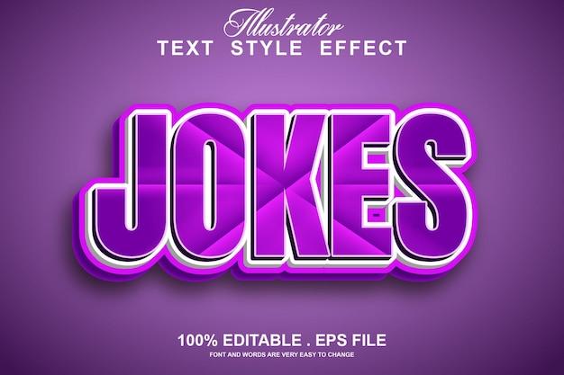 Piadas efeito de texto editável