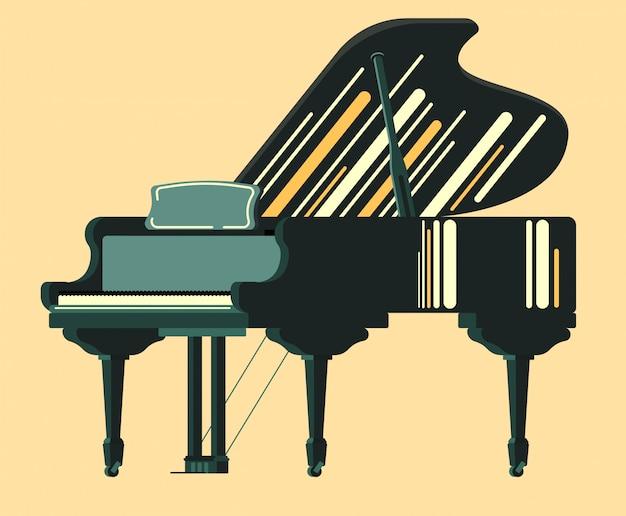 Piano de instrumento musical