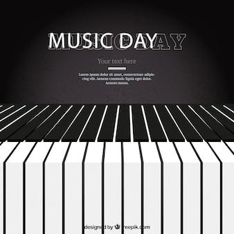 Piano fundo para o dia da música