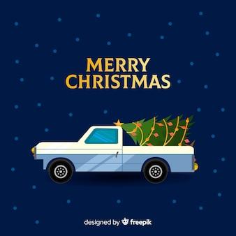 Pick-up com árvore de natal