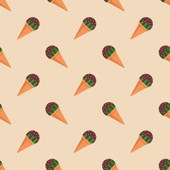 Picolé de sorvete padrão sem emenda