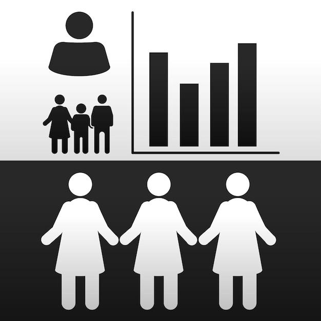 Pictograma de ícones de pessoas
