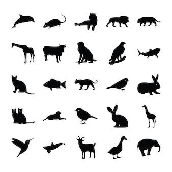 Pictogramas de glifo de animais