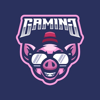 Pig logo mascot