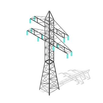 Pilão de energia de alta tensão. torre de transmissão.