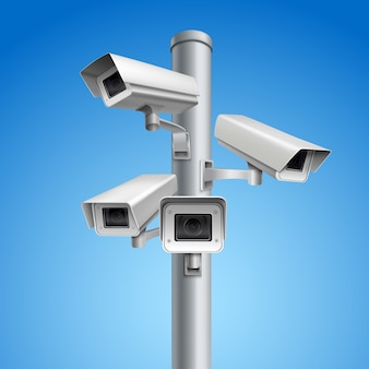 Pilar da câmera de vigilância